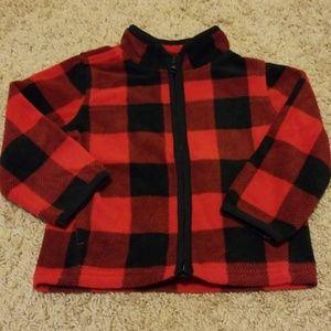 Boys Oshkosh Fleece Zippered Jacket 12-18 months